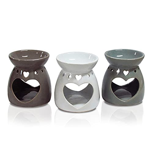 Aroma Burners Aromaterapia Vela Difusor Aceite Esencial Estufa Hecho a Mano Decoración Hogar Quemadores (Color : GY)