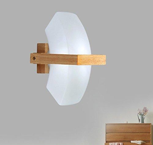 YU-K La personnalité moderne minimaliste couloir créatif et de lumière LED appliques en bois chaleureux 12 * 20 * 12cm