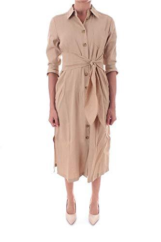 MARELLA SPORT Luxury Fashion Damen 32210205002 Beige Leinen Kleid | Frühling Sommer 20