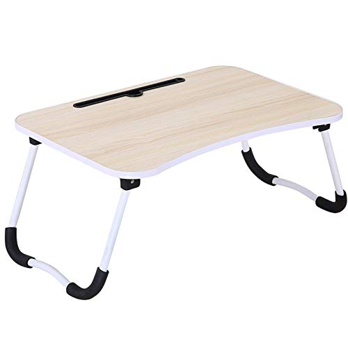 Laptop Table for Bed,Portable Lap Desk Notebook Stand Reading Holder Dorm Desk with Foldable Legs for Eating Breakfast Reading Watching Movie,Green,With card slot