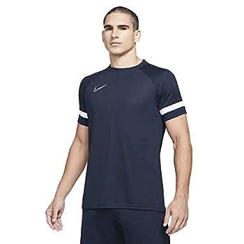 Nike Dri-fit Academy 21 T-Shirt Homme, Obsidian/Blanc/Blanc/Blanc, M