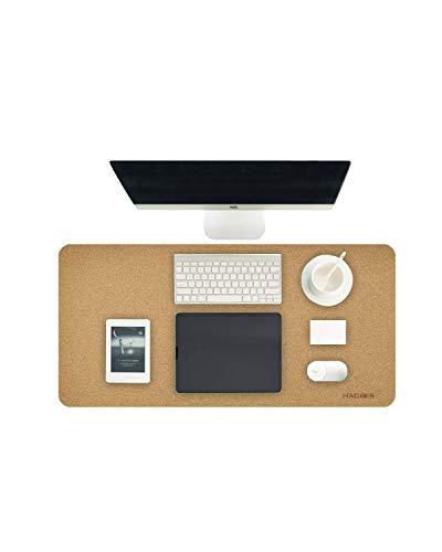 Hagibis Sobremesa tapete de escritorio de corcho natural, protector de escritorio, superficie superfina, almohadilla de escritorio de doble cara para oficina, hogar y juegos (90cm*40cm, corcho)