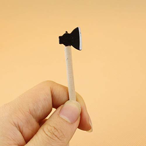 Faironly - Set di 3 Mini zappette in Miniatura con Manico, per Decorare la casa delle Bambole, in Scala 1:12