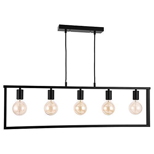 [lux.pro] Lampadario a sospensione moderno e robusto in nero di metallo con 5 lampade