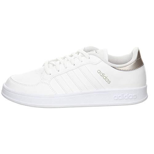 adidas BREAKNET, Zapatillas de Tenis Mujer, FTWBLA/FTWBLA/METCHA, 39 1/3 EU