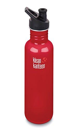 Klean Kanteen KK1003189MR Trinkflasche, Unisex, Erwachsene, Mineralrot, Größe: 276,2 mm H x 72,5 mm.
