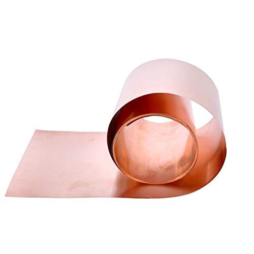 Xianglaa-Placa de metal pequeña 1M Tira de cobre 0.1mm Fichas delgadas de...