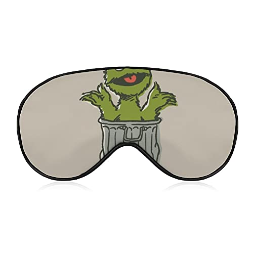 Oscar The Grouch Augenmaske, 3D-konturierte Schlafmaske, lichtblockierende Augenbinde, Plüsch-Schlafmaske, Reise-Augenblinder für Damen und Herren, Vintage