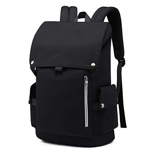 WILBIA Mochila para computadora portátil, mochila impermeable antirrobo, mochila para computadora portátil impermeable unisex de 15.6 pulgadas, adecuada para estudiar, viajar o trabajar(negro)