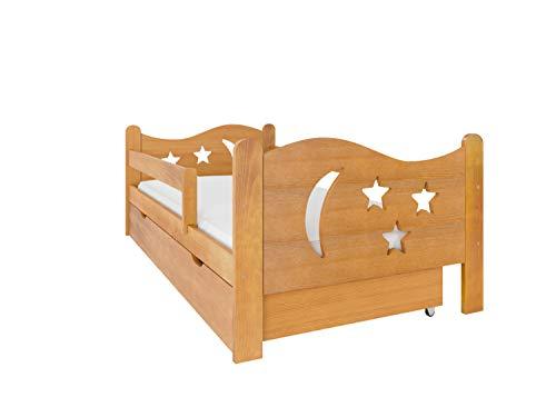 (160x80, Aliso) NeedSleep® cama niño infantil con colchón | 140x80 160 x80 | montessori 2 años | cama con cajones | cama bebe cabeceros infantiles | barrera cama | cama niña cama niño
