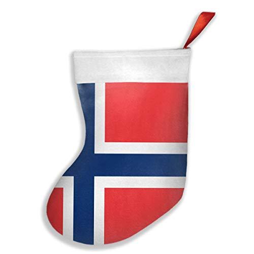 Dutars Norwegische Flagge Weihnachtsstrümpfe zum Aufhängen, Weihnachtsdekoration, Socken für Familie, Urlaub, Weihnachtsbaum, hängende Spielzeuge, Süßigkeiten-Geschenkbeutel