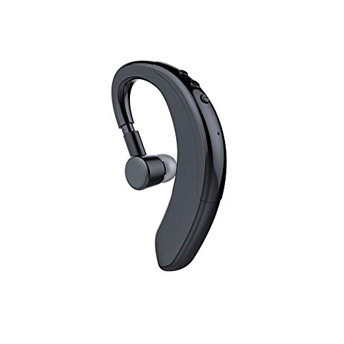 Bluetooth Headset V5.0 Single Wireless Earhook Business Bluetooth Headphone with Microphone HD Call Noise Cancelling 10H Playtime Hands-Free Bluetooth Earpiece Earbud with Volume Control (Black)