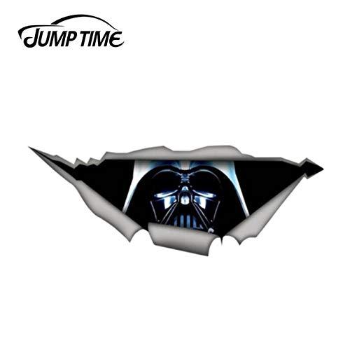 RSZHHL Sprungzeit 13 cm x 4,8 cm Darth Vader lustige Aufkleber zerrissen Metall Aufkleber Wildtier Aufkleber Auto Fenster Stoßstange 3D Auto StilStyle-1