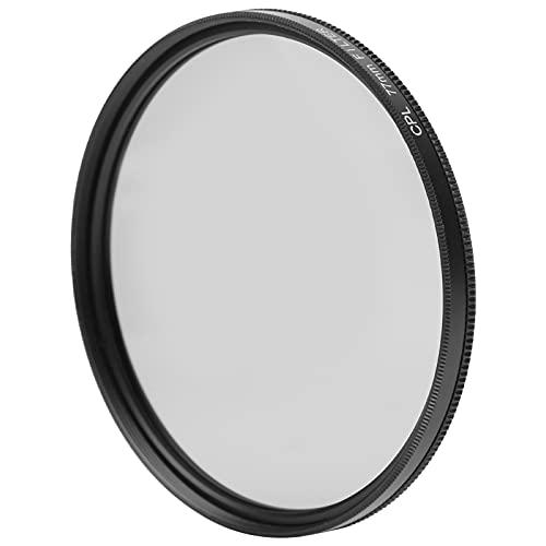 Filtro de lente de cámara CPL, 82 mm 77 mm 72 mm Aleación de aluminio Vidrio óptico HD DSLR Filtro polarizador de lente de cámara, Filtros de cámara para fotógrafos, para Canon, para Nikon(77 mm)