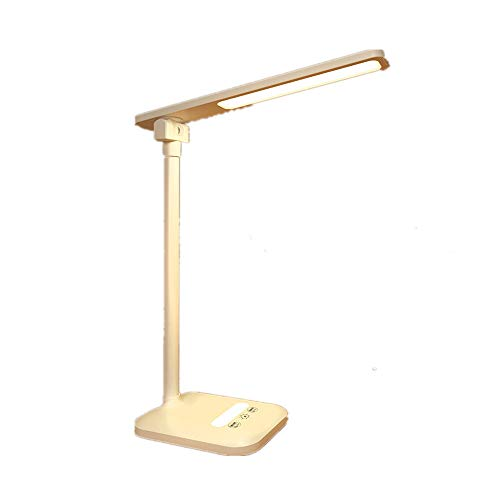 ZLD Rechargeable LED Office Lamp with Adjustable Desk Light Touch Control with USB Charging Port for Reading and Table lamp for Eye Protection