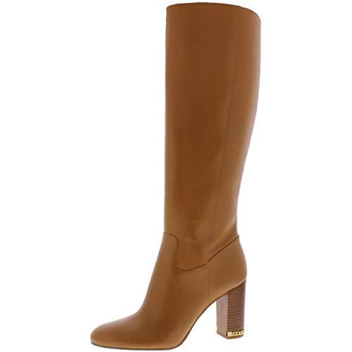 Michael Michael Kors Womens Leather Closed Toe Knee High, Acorn, Size 5.5