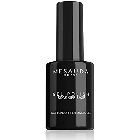 "MESAUDA MILANO GEL POLISH ""SOAK OFF BASE"" BASE PROTETTIVA UNGHIE UV GEL NAILS 14ML"