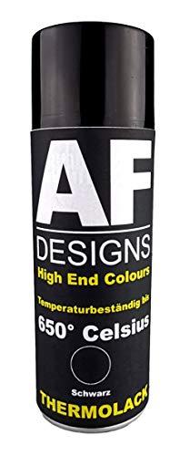 Alex Flittner Designs Thermolack Spray Spraydose Ofenlack Auspufflack Hitzebest. 650 °C Schwarz 400ml