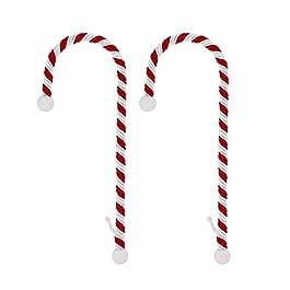 Support à chaussettes de Noël en forme de canne à sucre