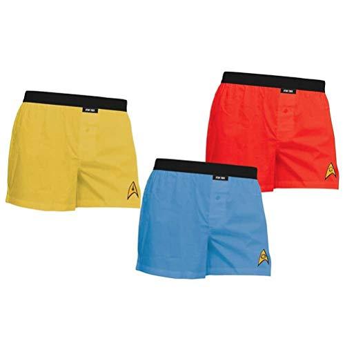 Toy Zany Star Trek The Original Series Boxer Shorts 3 Pack | S