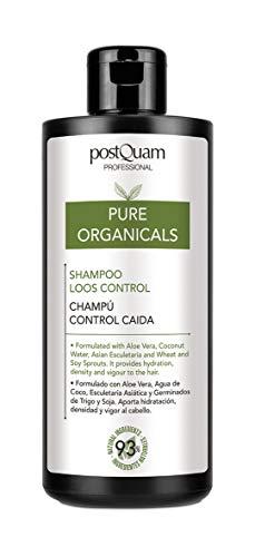 PostQuam Organicals - Champu Anticaida Natural   Champu Sin Sulfatos ni Parabenos - Hidrata y Fortalece el Cabello, 93% Ingredientes Naturales, 400 ml