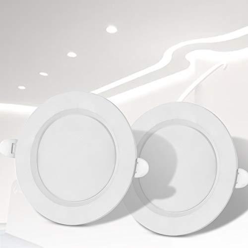 TYCOLIT LED Einbaustrahler Flach 230v inkl, 2 x 24W Einbauleuchten Slim Deckenstrahler IP44 Neutralweiß Bad Strahler, Spots LED Set Einbauleuchten ultraflach Lampe Deckenspots [Energieklasse A++]
