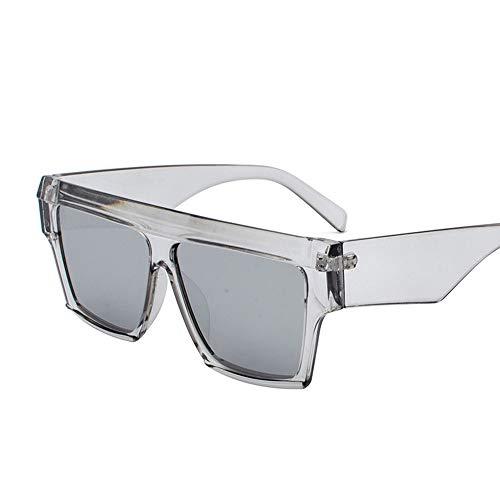 Faus Koco Personality Box Sonnenbrillen Europa Und Den Vereinigten Staaten Strand Sonnenbrillen Retro Round Face Universal-Brille (Color : Gray)