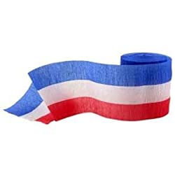 Red, White & Blue Crepe Streamer