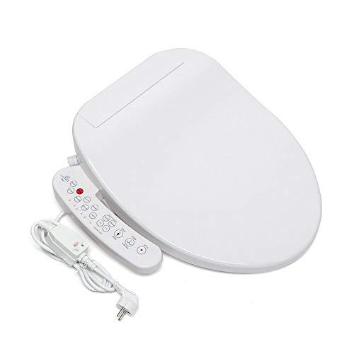 Fetcoi Smart Kompatibel mit Bidet/WC-Sitze mit Absenkautomatik, Toilettendeckel mit Gewärmter, Selbstreinigende&Düsen Toilettensitz