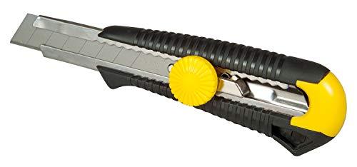 Stanley Cutter MPO (18 mm Klingenbreite, mit Edelstahl-Klingenführung und Klingenfixierung, ergonomischer Griff) 1-10-418