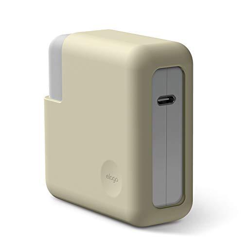 """elago Cover Caricatore in Silicone Compatibile con Apple MacBook Pro 13"""" con o senza Touch Bar e ID / Display Retina / Thunderbolt 3 USB-C (A1989 /A1706 /A1708 /A1502 /A1425) - Bianco classico"""