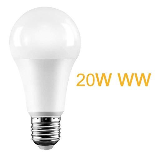 E27 15W 20W 110-265V Gartengarage Radar Durchdringungslicht Lampe Radar Smart Auto Switch Led Glühbirne Dämmerung Bis Zum Morgengrauen Bewegungsmelder, W27 20W Ww