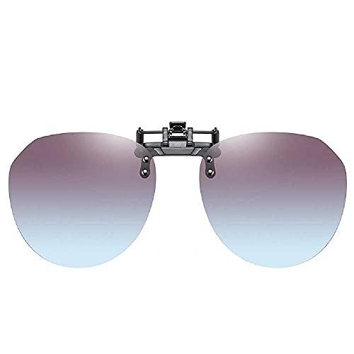 Zonnebril, Eenvoudig, Ultralicht, Autorijden, Zonnebril, Clip-on, Bril Voor Bijziendheid, Dag En Nacht, Dames gradiënt grijs poeder