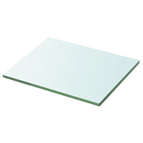 Festnight Ersatzteile Regalboden Glasboden Einlegeboden aus Gehärtetes Glas Max. Tragfähigkeit 15 kg 20 cm x 25 cm Transparent