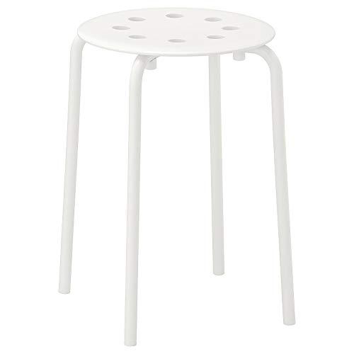 IKEA Marius - Taburete multiusos para cocina, desayuno, baño, color blanco