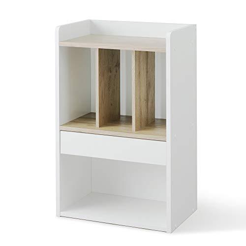 アイリスオーヤマ(IRIS)子ども用本棚アッシュブラウン/ホワイト46×28.7×76.3cmランドセルラックRRK-460