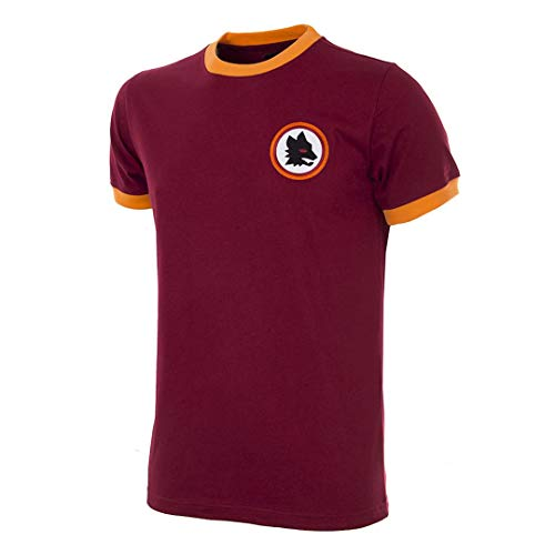 AS Roma, 1978-79 Retro Football Unisex – Adulto, Bordeaux, XL