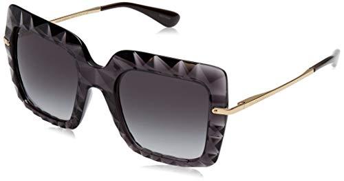 Dolce & Gabbana Damen 0DG6111 504/8G 51 Sonnenbrille, Grau (Transparent Grey/Gradient)