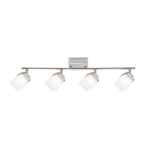Hampton Bay 4335442807 4 Brushed Nickel LED Dimmable Fixed Track Lighting Kit