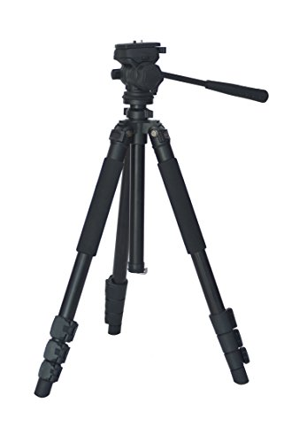 """Blulux.it ST- 7080 Treppiede professionale per video in alluminio. Estensibile fino a 175 cm (69""""), con custodia imbottita. Italian design."""