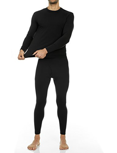 Fashion Shopping Thermajohn Men's Ultra Soft Thermal Underwear Long Johns Set with Fleece Lined