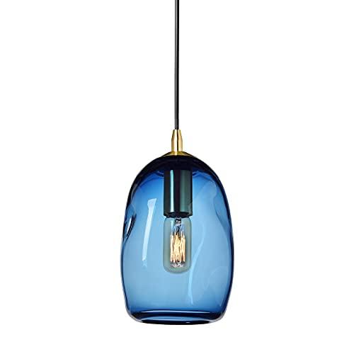 Casamotion - Lámpara de techo de cristal soplado a mano, estilo orgánico...