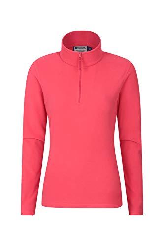 Mountain Warehouse Camber Damen-Fleece mit halbem Reißverschluss - atmungsaktiv, leicht, warm, fusselfrei, mit hoher Feuchtigkeitsregulierung - für den Winter Koralle M
