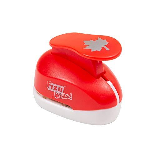 Fixo Kids 63051. Perforadora con Forma de Hoja. 2,5cm. Tamaño, Rojo, Mediano (2.5 cm)