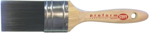 Proform Technologies CO2.5VS 2-1/2-Inch Contractor Oval Handle Stiff Paint Brush