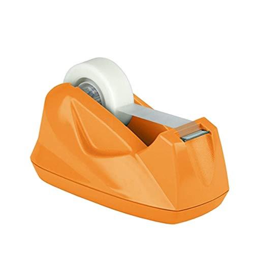Acrimet Premium Desktop Tape Dispenser Non-Skid Base (Heavy Duty) (Orange Color)