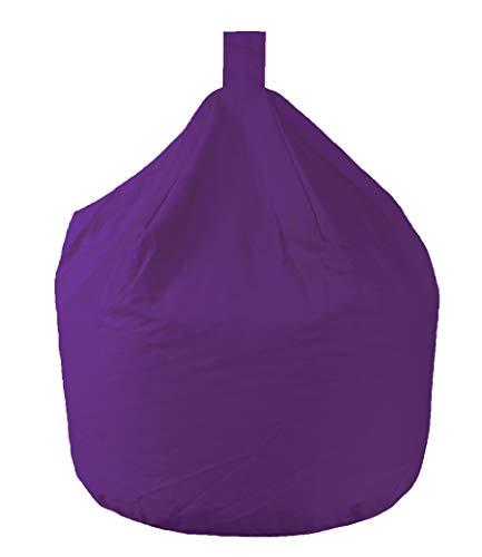 Better Dreams Adult Bean Bags Purple 100% Cotton Fire Retardant Large Bean Bags 60cm Wide x 82cm High Approx 6 Cubic Foot