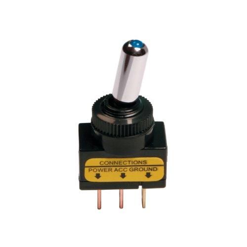 Pilot LA_45561 Interrupteur on-off à LED bleu 12 V, 20 A