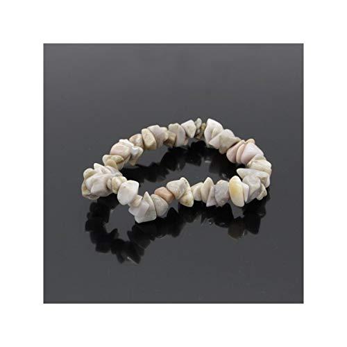 Pulsera Chips de Agata Gris Minerales y Cristales, Belleza energética, Meditacion, Amuletos Espirituales