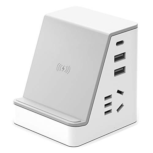VAST Enchufe USB Vertical, Convertidor Inteligente para Teléfono Móvil, Enchufe De Carga, Enchufe De Alimentación, Protección contra Sobrecarga Tipo C 3A(Size:Cable 0.8m,Color:Blanco)